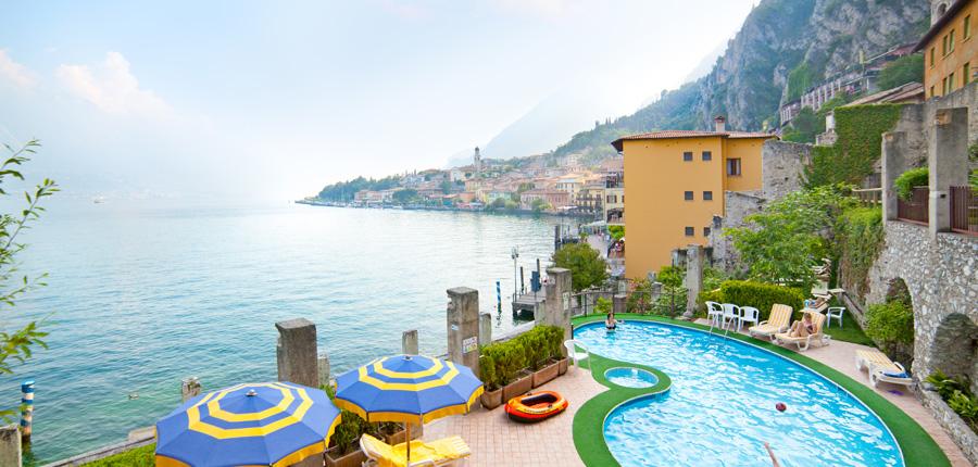 Hotel Le Palme, Limone, Lake Garda, Italy - Pool and lake View.jpg